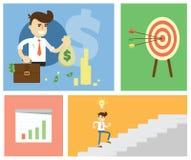 Start up business concept design. Flat design modern illustration of start up new business ideas, succed for website, printed materials and mobile apps royalty free illustration