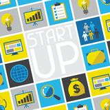 Start-up business concept in flat design style Stock Photos