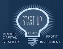 Start up business concept. Start up new business concept royalty free illustration