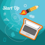 Start up business design, vector illustration. Stock Photos