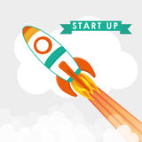 Start up business design, vector illustration. Royalty Free Stock Images