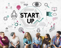 Start up Business Development Enterprise Launch Concept Royalty Free Stock Photo