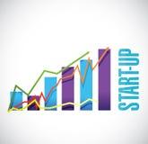 Start-up business graph sign concept illustration. Design artwork Stock Image