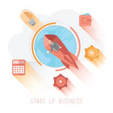 Start up business graphic with icons Royalty Free Stock Image