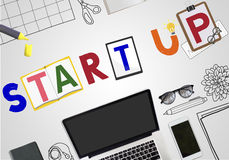 Start Up Business Growth Launch Aspiration Concept Royalty Free Stock Photos
