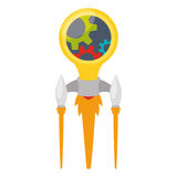Start up business. Icon  illustration graphic design Royalty Free Stock Photography