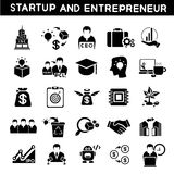 Start up business icons. Set of 25 entrepreneur icons and start up business icons Stock Photos
