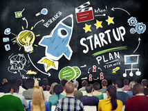 Start Up Business Launch Success Study Seminar Concept Royalty Free Stock Photography