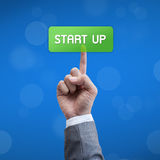 Start up business man button Stock Image