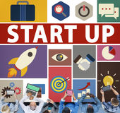Start Up Business New Launch Technology Concept Stock Image