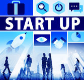 Start Up Business New Launch Technology Concept Royalty Free Stock Image