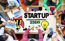 Start Up Business Plan Development Vision Concept Royalty Free Stock Images