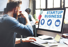 Start Up Business Rocket Ship Graphic Concept Royalty Free Stock Image