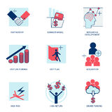 Start up business solution icons set vector illustration Royalty Free Stock Images