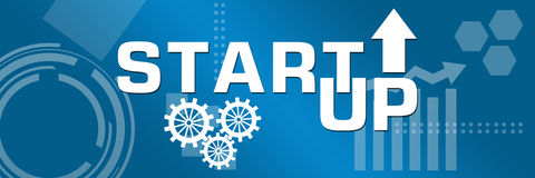 Start Up Business Theme Background Stock Image