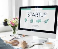 Start Up Business Venture Webpage Royalty Free Stock Photography