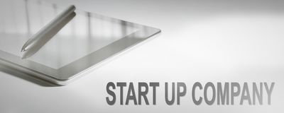 START UP COMPANY Business Concept Digital Technology. Graphic Concept stock image