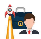 Start up company and business. Graphic design, illustration royalty free illustration