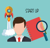 Start up company and business. Graphic design, illustration stock illustration