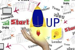 Start up concept on background. Start up concept on symbol  background Royalty Free Stock Photos
