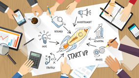 Start up concept Royalty Free Stock Photos