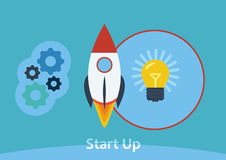 Start Up Concept Composition Stock Photo