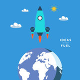 Start up concept: ideas is your fuel. Royalty Free Stock Photography