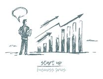 Start up concept investment business charts vector Royalty Free Stock Photography