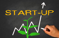 Start-up. Concept : new beginning and financial chart Royalty Free Stock Images