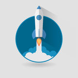 Start Up Concept Space Roket Modern Flat Design Royalty Free Stock Image