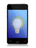 Start up concept on touchscreen of mobile phone. Illustration Stock Photography