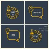Start up, consulting, idea, science symbols. Stock Photo