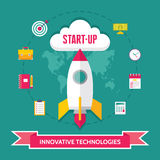 Start-Up Creative Illustration in Flat Design Style Royalty Free Stock Images