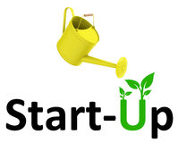 Start-up. 3d generated picture of a start up concept stock illustration