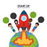 Start up design. Illustration eps10 graphic royalty free illustration