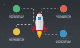 Start up element concept business infographic Royalty Free Stock Photography
