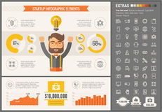 Start Up Flat Design Infographic Template Royalty Free Stock Photos