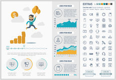 Start up flat design Infographic Template Stock Images