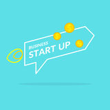 Start up in flat style. Income and success. Business illustration for design. Start up in flat style. Income and success. Business illustrations for design Stock Photography