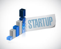 Start up graph sign illustration design Royalty Free Stock Image