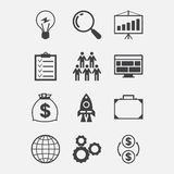Start-up icon set in flat design style Stock Image