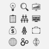 Start-up icon set in flat design style Stock Image