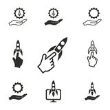 Start up icon set. Start up vector icons set. Illustration  for graphic and web design Stock Illustration