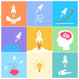 Start up icons set Royalty Free Stock Photography