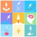 Start up icons set Royalty Free Stock Photography