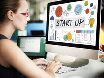Start up Launch Business Ideas Growth Success Concept Royalty Free Stock Photography