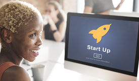 Start up Launch Homepage New Business Concept Royalty Free Stock Images
