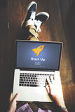 Start up Launch Homepage New Business Concept Stock Photography
