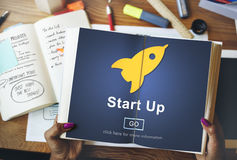 Start up Launch Homepage New Business Concept Stock Image