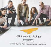 Start up Launch Homepage New Business Concept Royalty Free Stock Photos